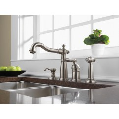 Stainless Steel Kitchen Faucets Aide Appliances Delta Victorian Collection Single Handle Fauce Faucetlist Com