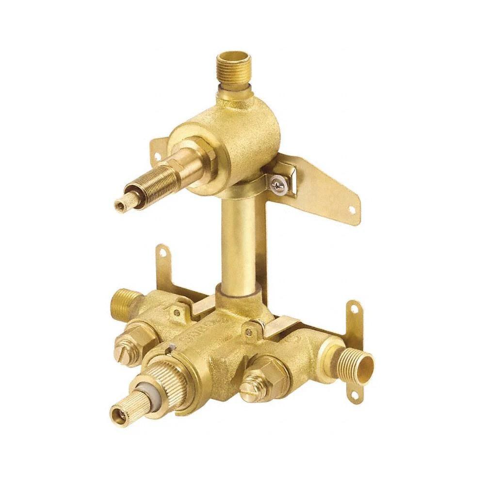 danze parma chrome 2 handle 1 2 thermostatic shower faucet control includes rough in valve