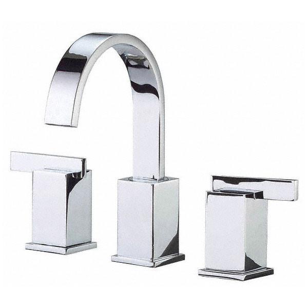 danze sirius chrome modern gooseneck spout widespread bathroom faucet