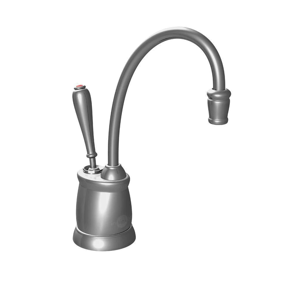 insinkerator indulge tuscan satin nickel instant hot water dispenser faucet only 358701