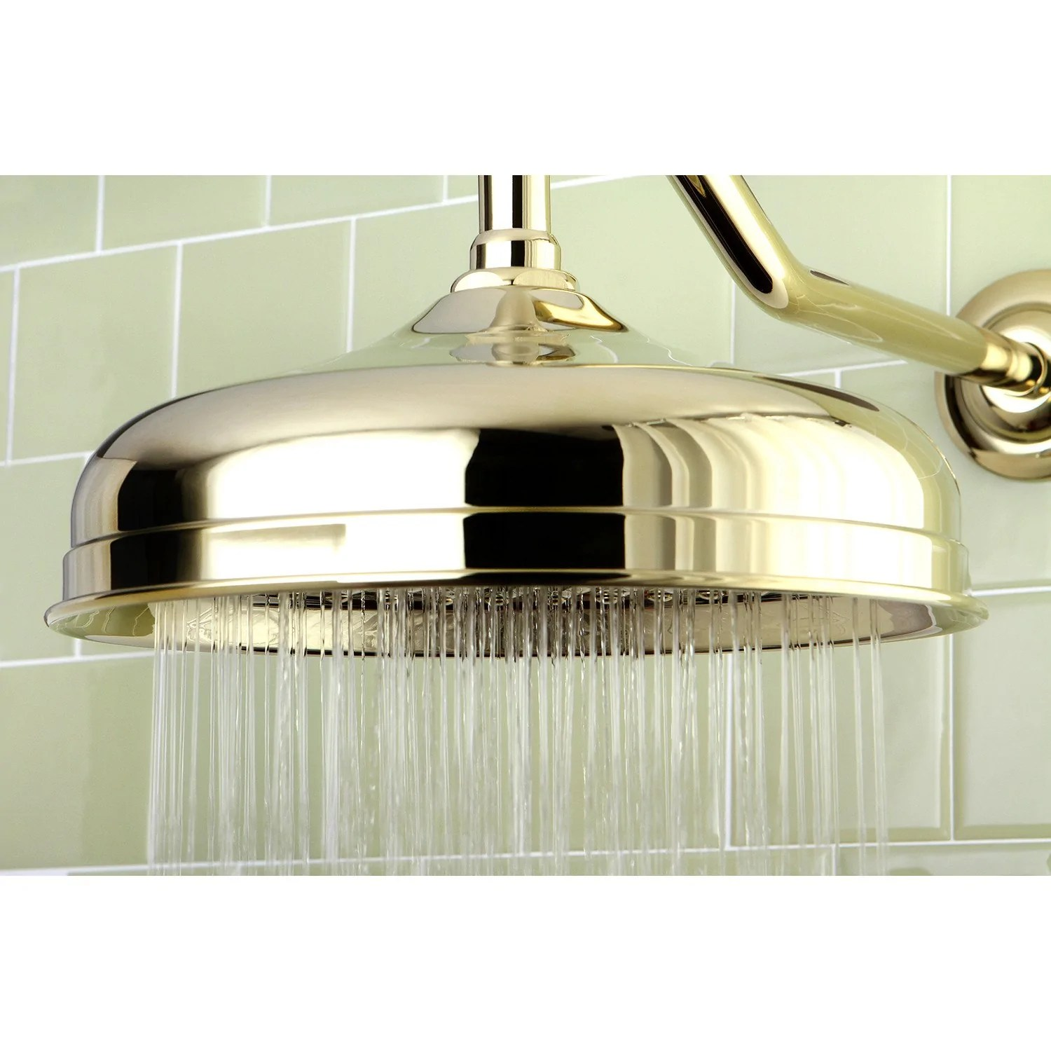 Bathroom Fixtures Polished Brass Shower Heads 10 Large Rain