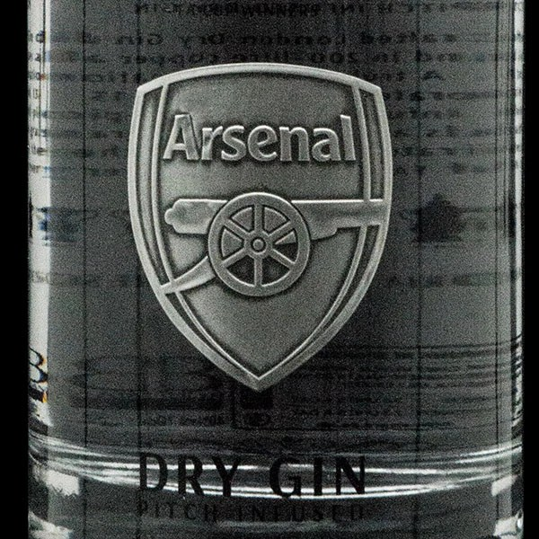 arsenal fc pitch infused dry gin limited edition