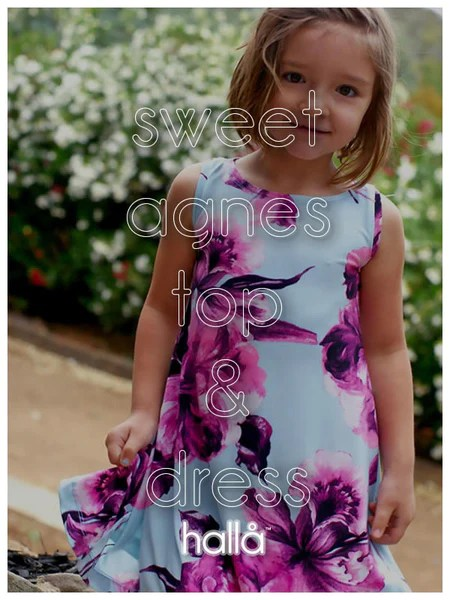 sweet agnes swing top  dress  Hall Patterns