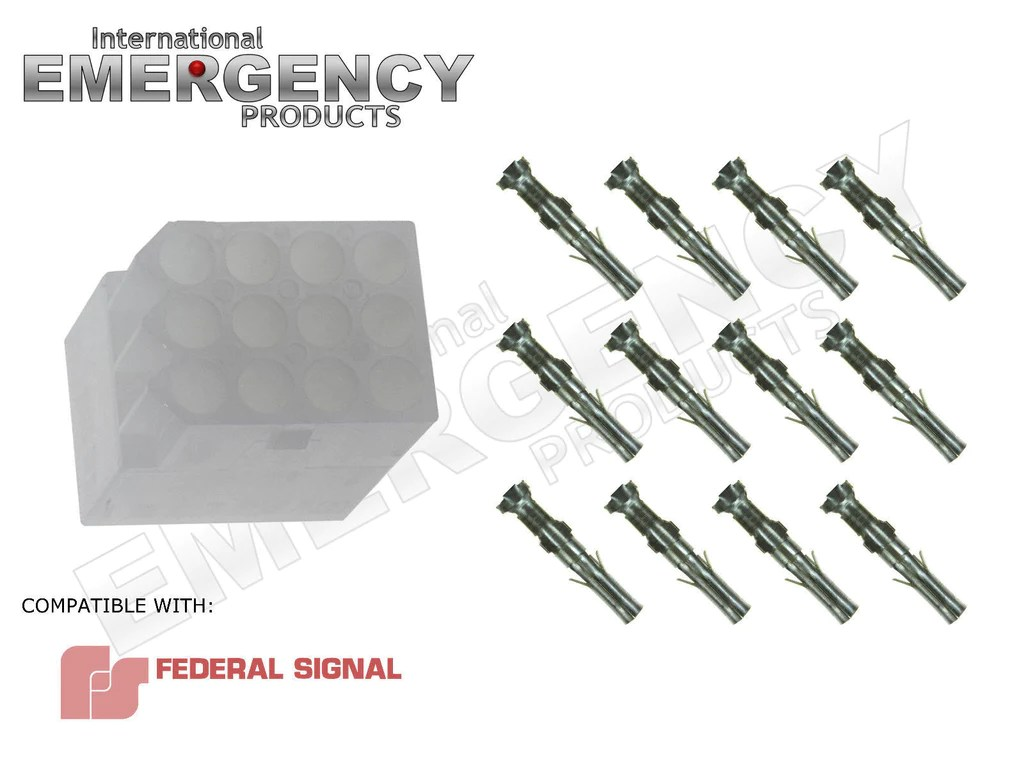 medium resolution of 12 pin connector plug for federal signal smart siren ss2000 ss pa300 v international emergency products