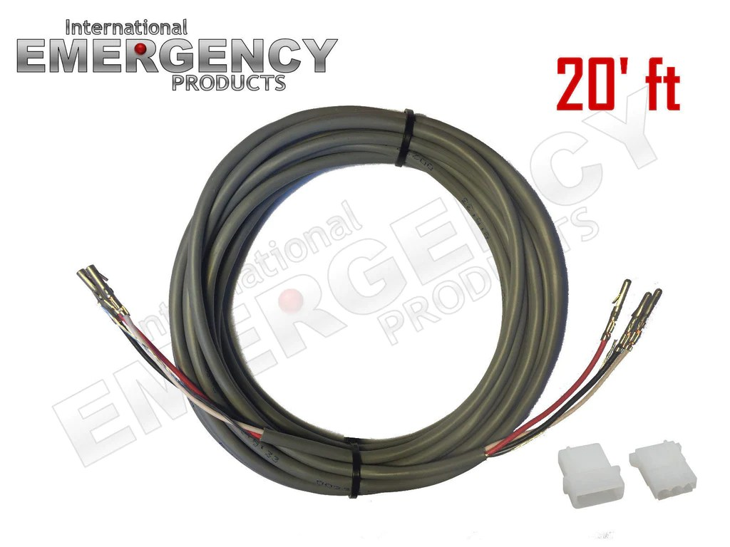 small resolution of 20 ft strobe cable 3 wire stranded shielded with ground