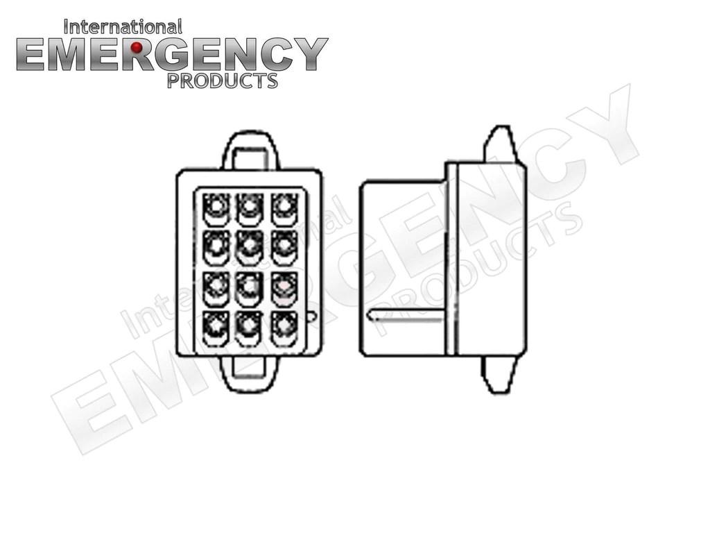 12 Pin Connector Plug for Whelen Traffic Advisors & Sirens