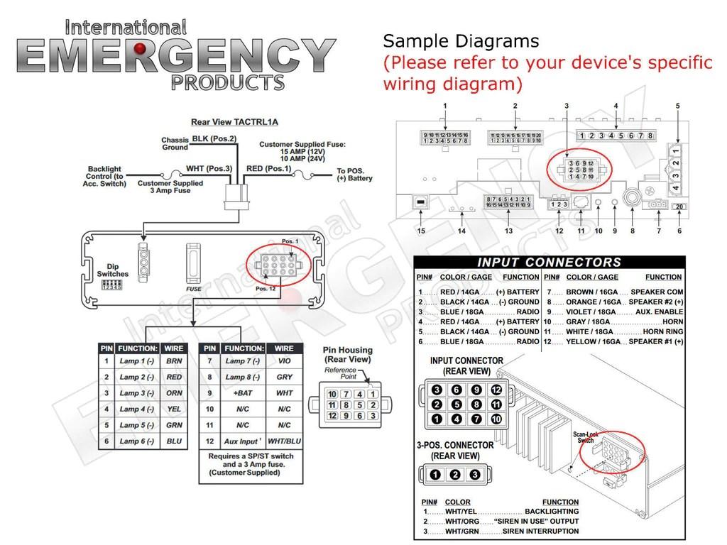 medium resolution of whelen traffic advisor wiring diagram 12 pin connector for whelen traffic advisors sirens