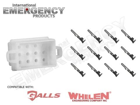 12 pin connector plug for whelen traffic advisors  sirens