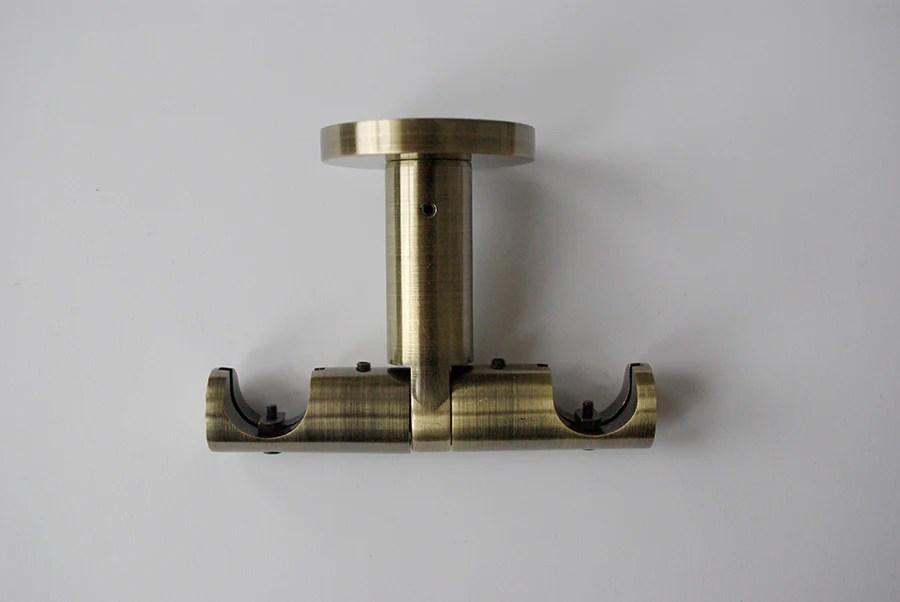pole bracket modern ceiling mount double bronze chrome stainle gnts decor