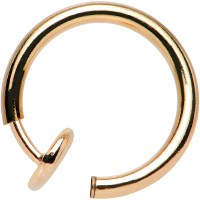 3/8? Rose Gold Titanium IP Spring Loaded Fake Body Jewelry ...
