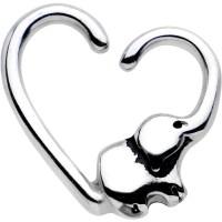 "16 Gauge 3/8"" Elephant Trunk Heart Left Daith Cartilage ..."
