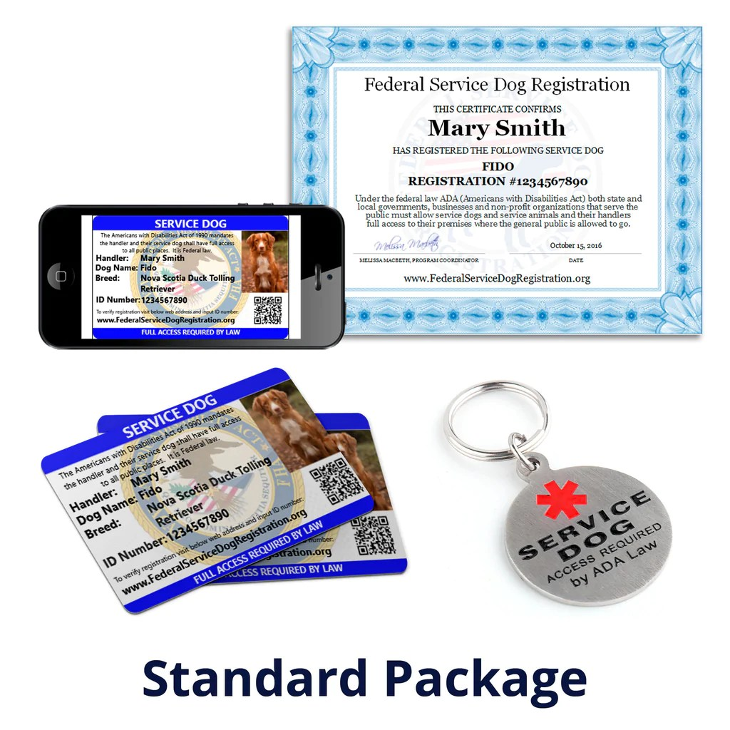 Service Dog - Standard Package (Bundle and Save $24) | TOP ...