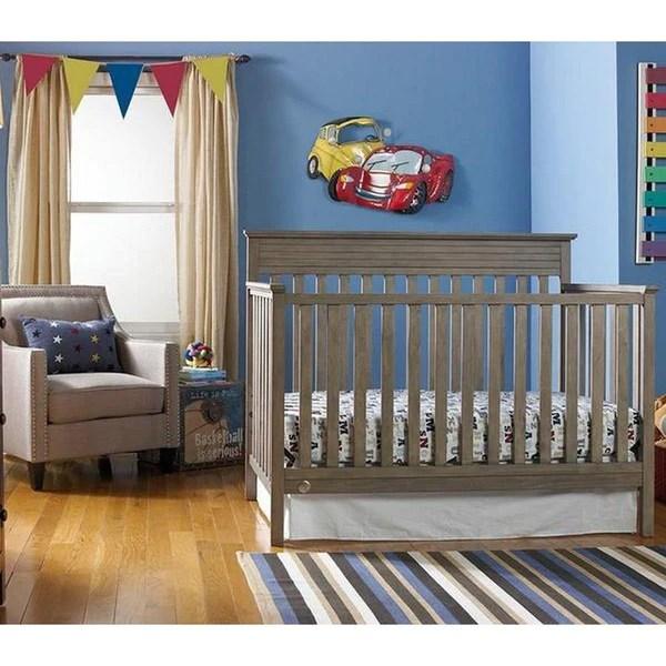 FisherPrice Newbury Convertible Crib Vintage Grey