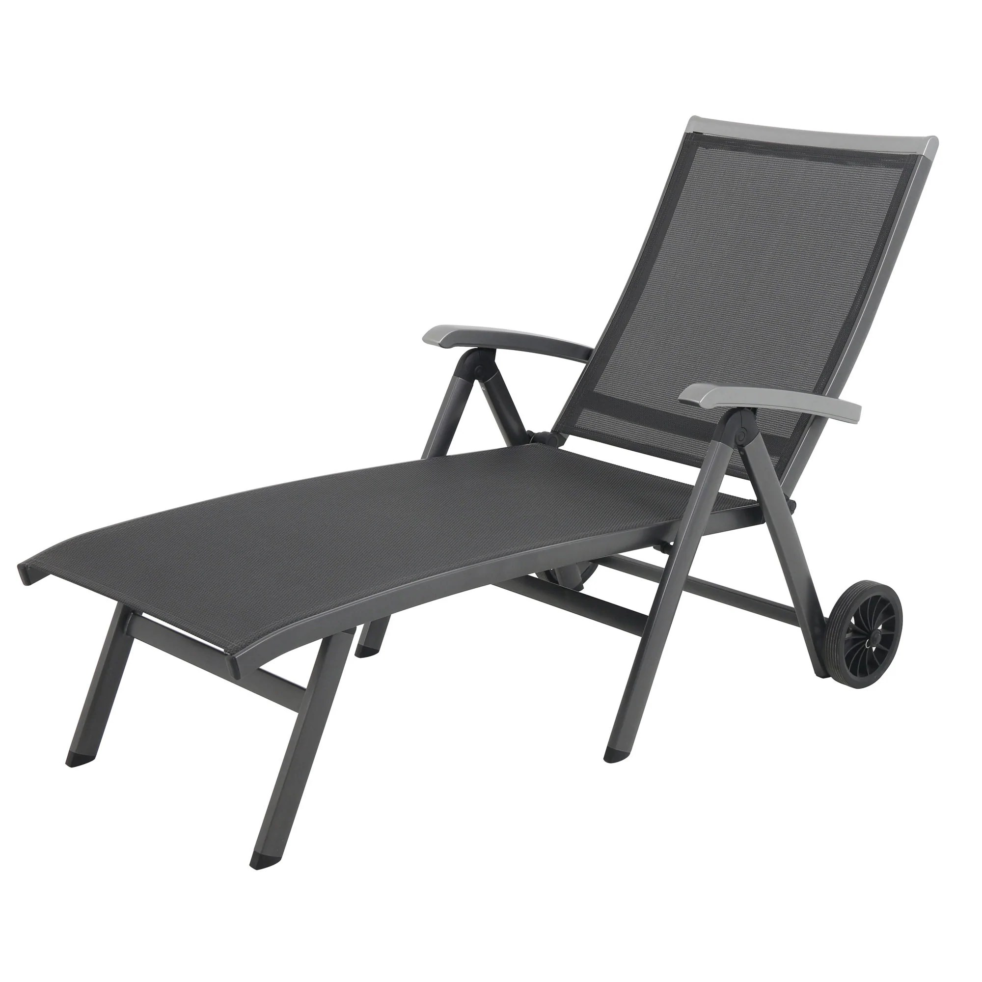 metal lounge chair with wheels portable rocking royal garden ludwig aluminum folding chaise
