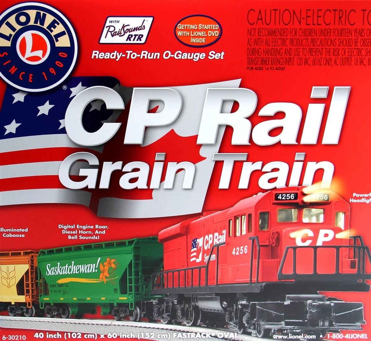 medium resolution of lionel 6 30210 o pp canadian pacific grain train set u36b