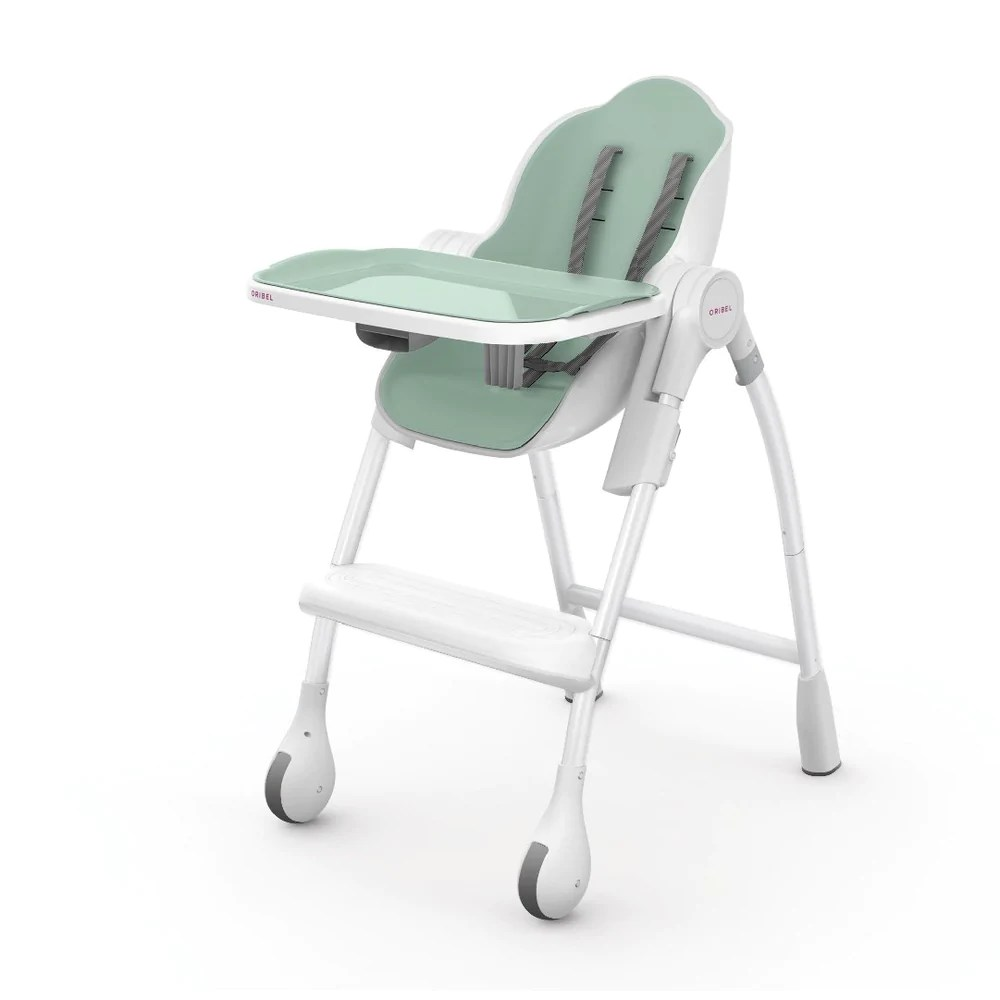 green high chair power wheelchair bags cocoon pistachio oribel