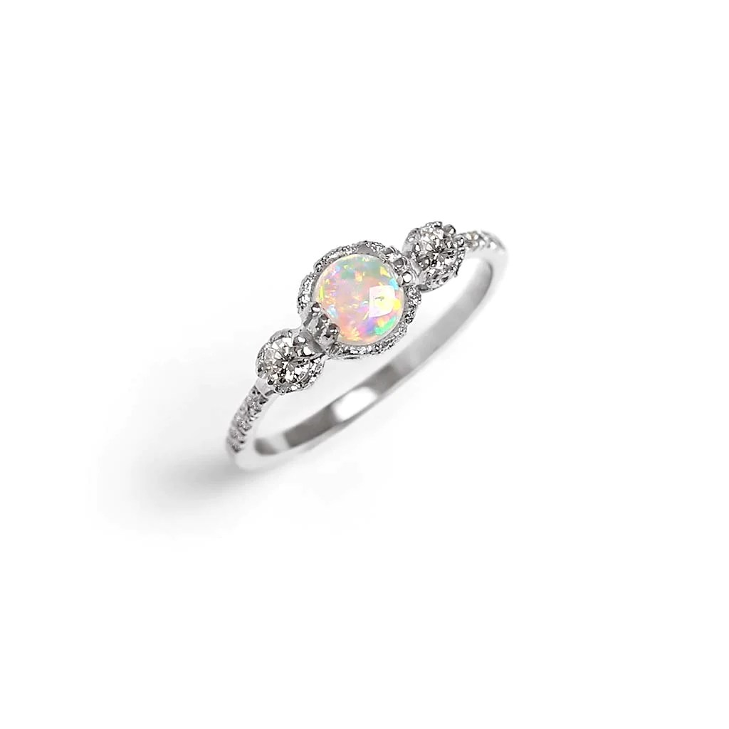 Destiny Opal Engagement Ring James Irisa