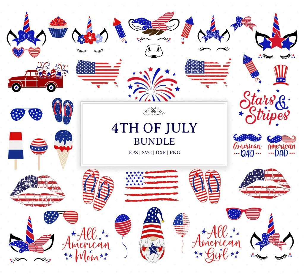 Download SVG Cut Files for Cricut and Silhouette - 4th of July ...