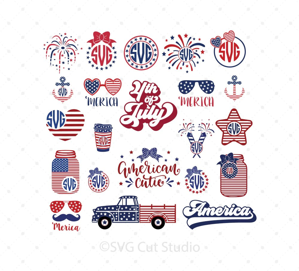 Download 4th of July SVG Cut files for Cricut and Silhouette - 4th ...