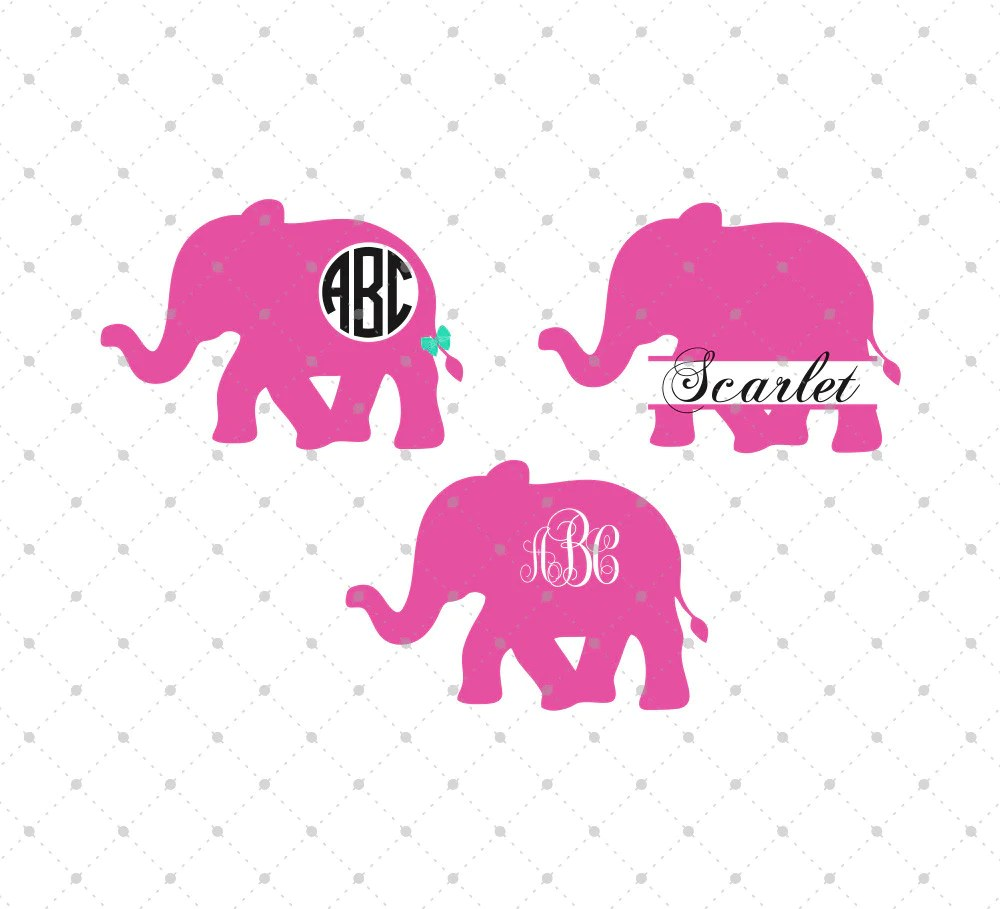 Download SVG Cut Files for Cricut and Silhouette - Elephant Files ...