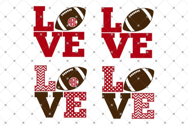 Download SVG Cut Files for Cricut and Silhouette - Football Love ...