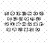 Download Cricut and Silhouette Monogram Font bundle SVG PNG DXF ...