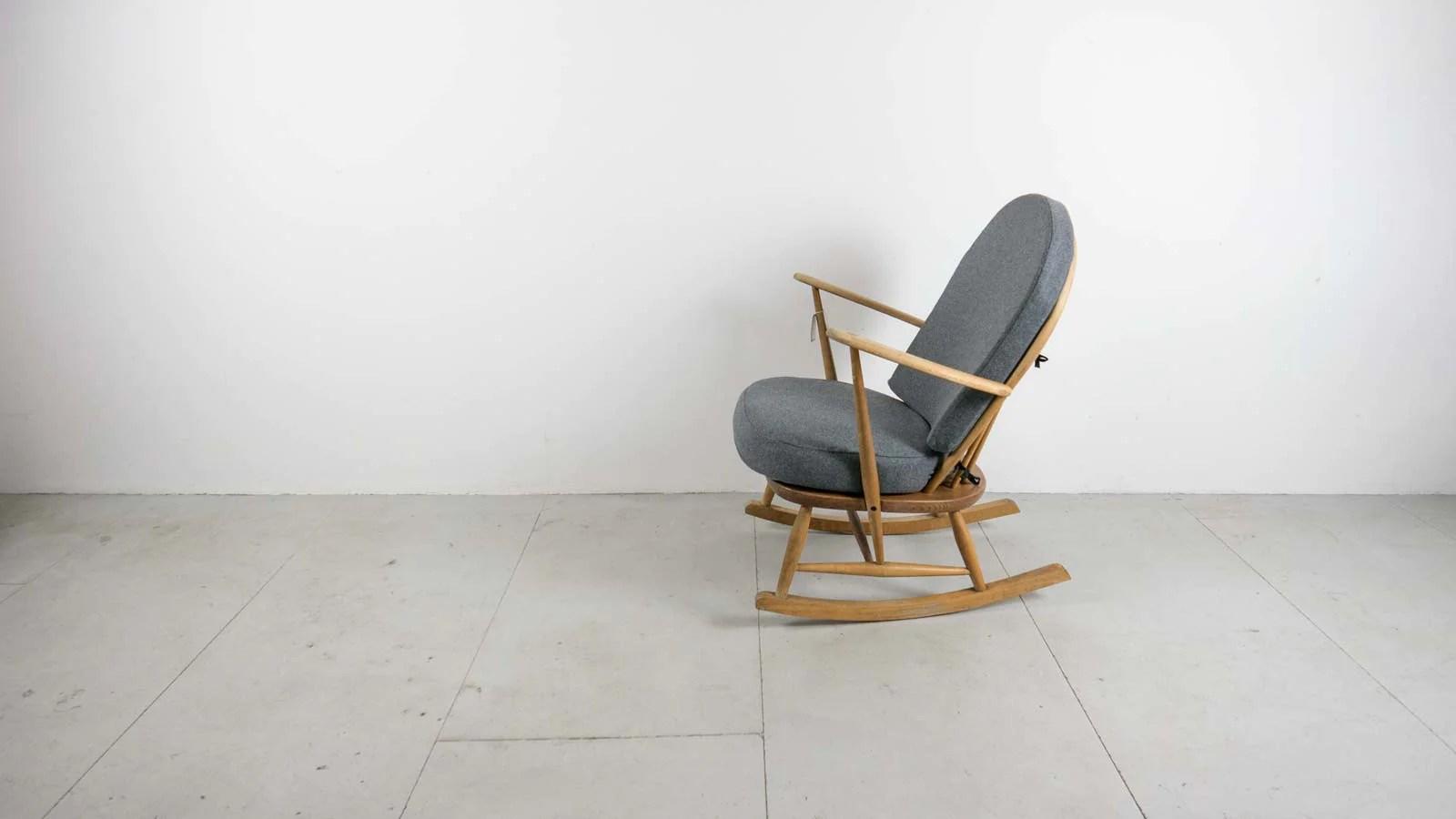 windsor rocking chair cushions zero gravity lounge cup holder ebtd vintage mid century ercol
