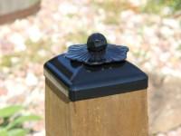 6x6 Post Cap for Wood Post, Steel Flower Rosette Fence ...
