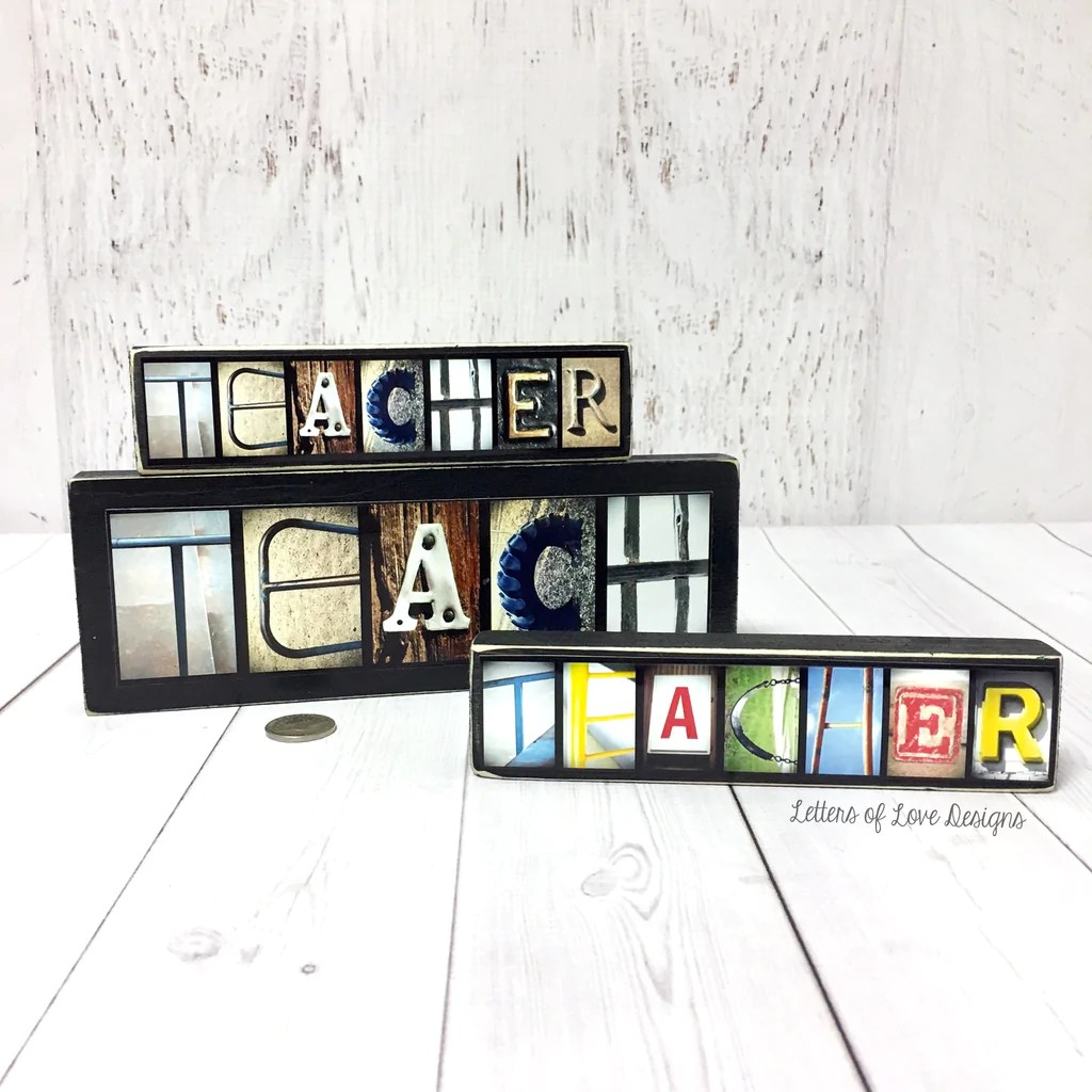 Teach Wood Sign - Teacher Gift, Classroom Sign Mentor Coach Gift