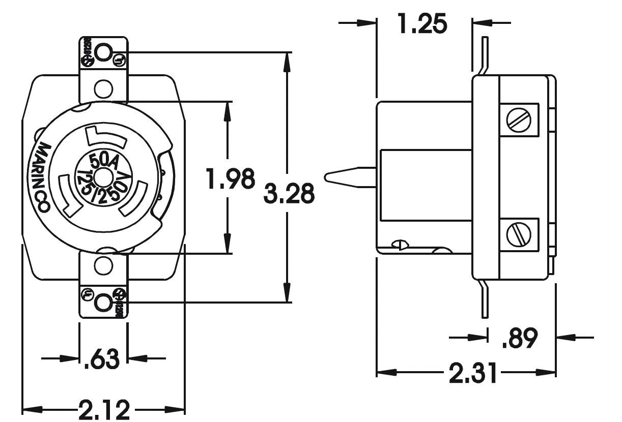 marinco 50 amp wiring diagram [ 1222 x 830 Pixel ]