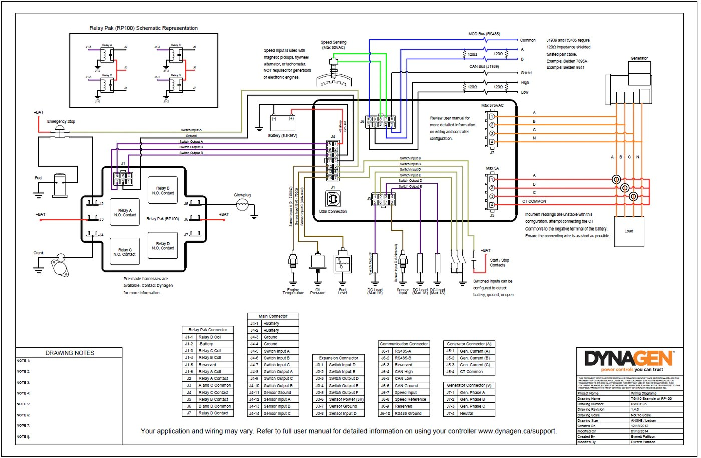 engine control panel typical wiring diagram  [ 1400 x 914 Pixel ]