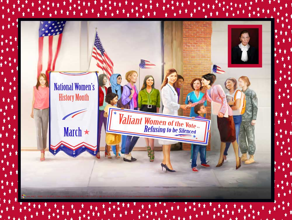 2021 national women s history month theme refusing to be silenced item wh21 24x18 om