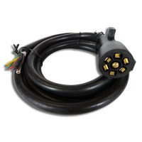 8FT Foot 7 Way Trailer Cord Wire Harness Light Plug ...