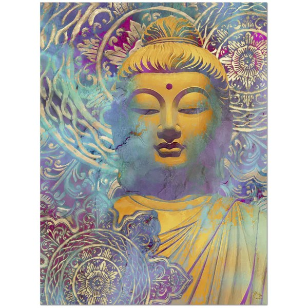 Colorful Buddha Art Canvas