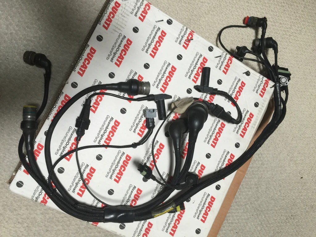 ducati 996 rs nos wiring loom harness for later 996 rs superbikes italianiron classics [ 1024 x 768 Pixel ]