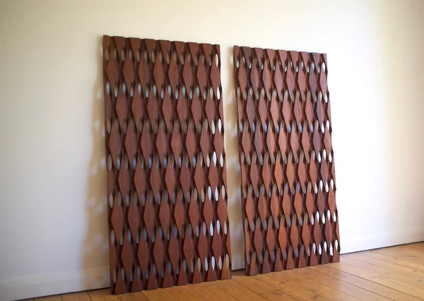 Mid Century Modern Teak Wall Panels 2 Antikmodern
