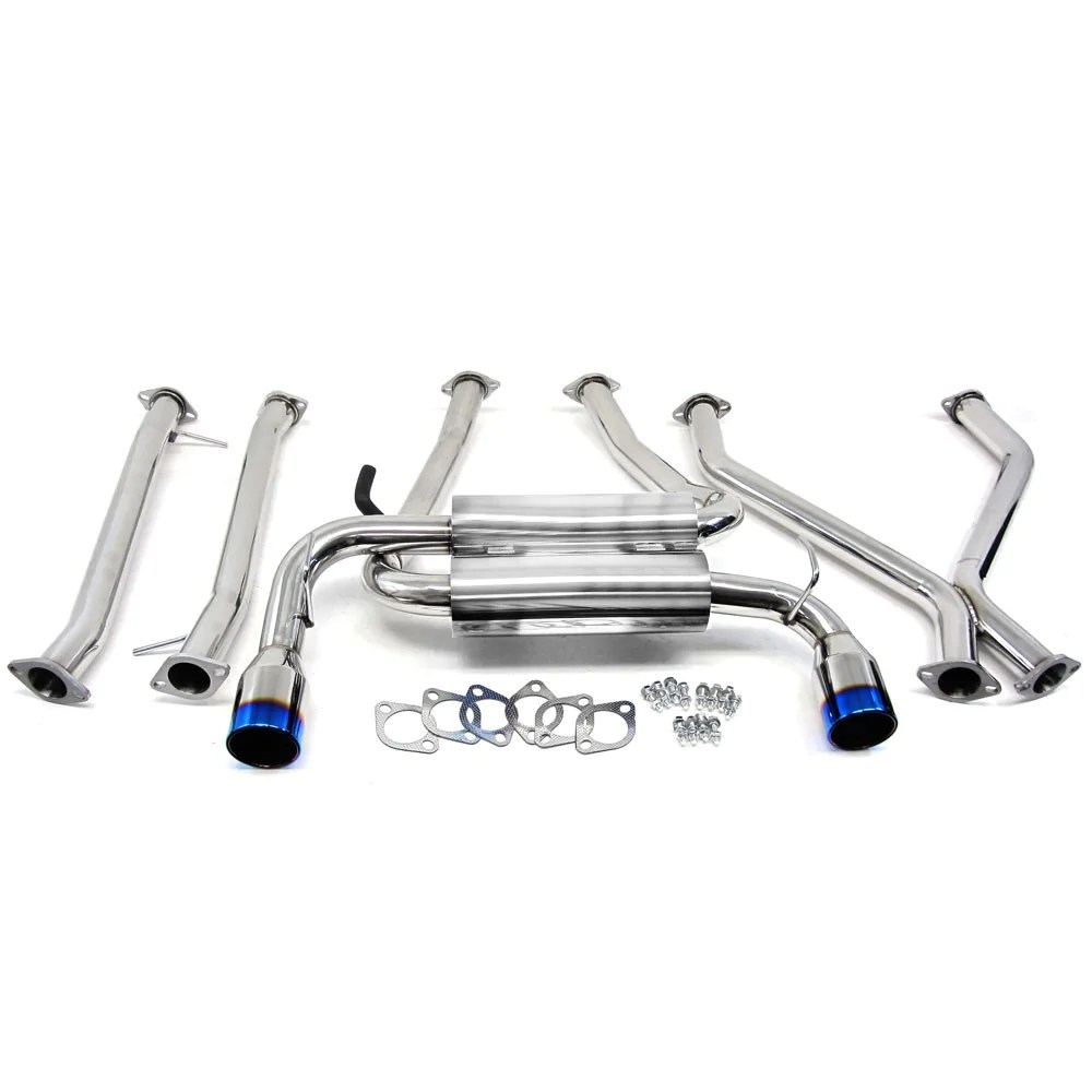 manzo stainless steel exhaust catback system for 09 12 nissan 370z lhd vq37vhr