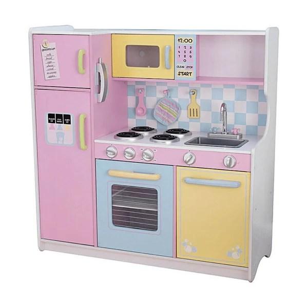 kidkraft large pastel play kitchen KidKraft Large Pastel Kids Play Kitchen – Swing and Play