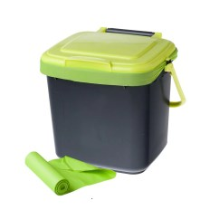 Kitchen Caddy Epoxy Commercial Flooring Maze 7l Bin With 20x Compostable Bags Greenlife