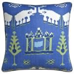 Kingdom Parade Blue And Green Throw Pillow Ryan Studio