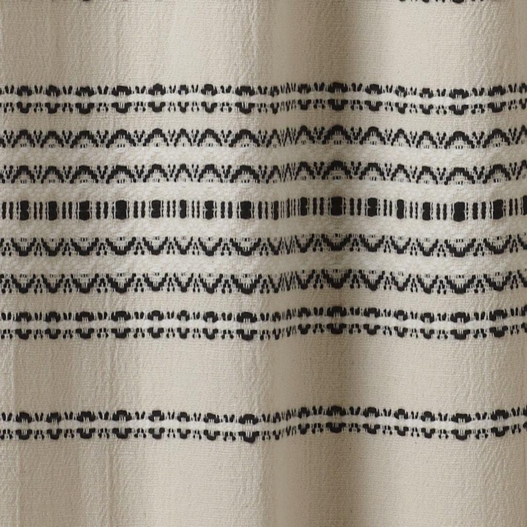 rippled stripe ivory organic shower curtain