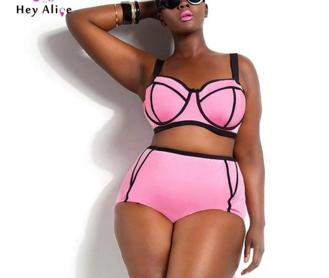 High Waisted Bathing Suit Plus Size Swimwear Bikinis Push Up Sexy Plus