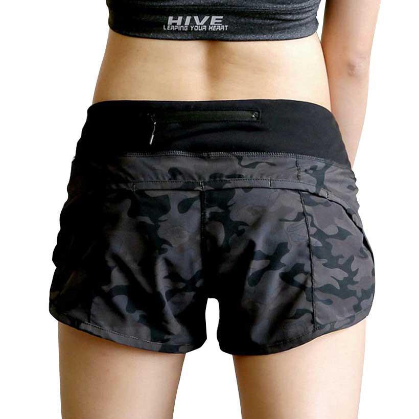 Heal Orange Yoga Shorts Women Compression Short Pant