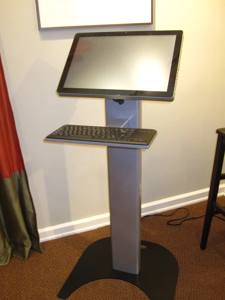 Podium Kiosk Bundle with 22 Touch Screen PC  Electronic