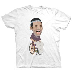 Wheelchair Drake Tiger Print Dining Chairs T Shirt Dr Clothing Co Drclothingco Degrassi White Premium