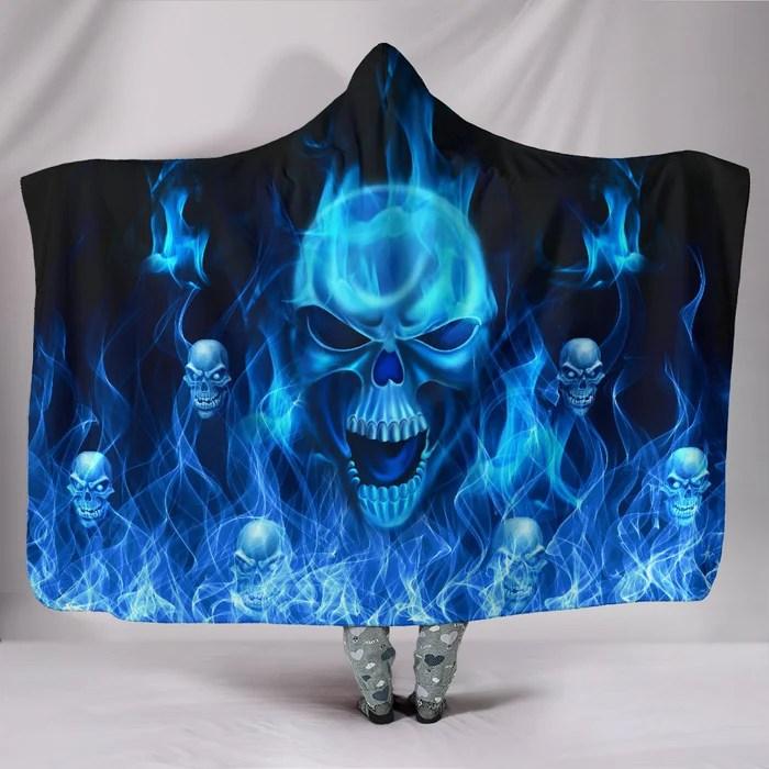 amazing blue fire skull