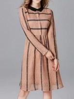 Stripes Field A-Line Dress