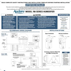 Aprilaire 600 Humidistat Wiring Diagram 2 Channel Car Amp 440 760