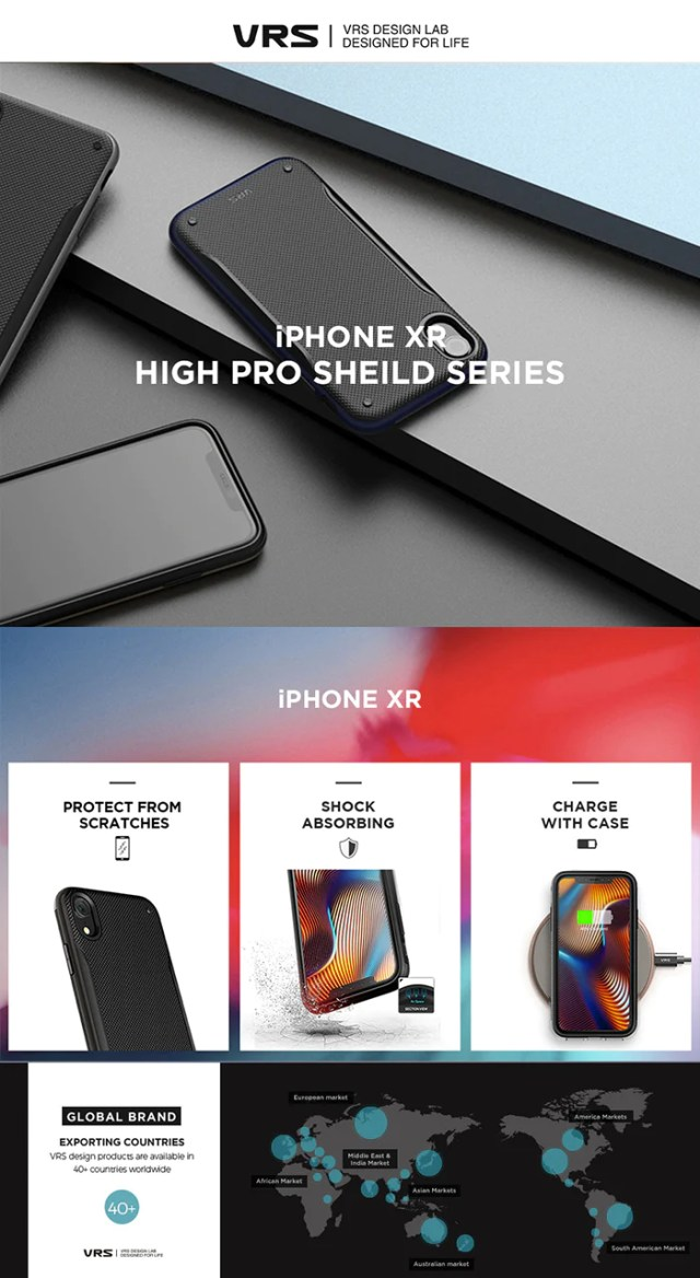 Best Protective Case for iPhone XR High Pro Shield Series From VRS Design