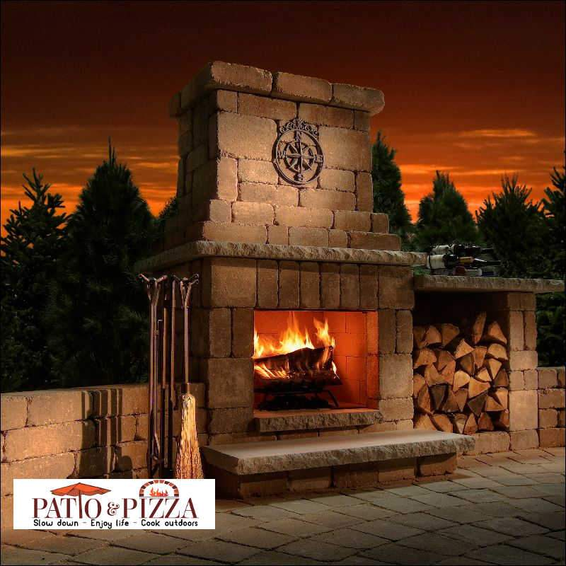 outdoor fireplace kits build your own